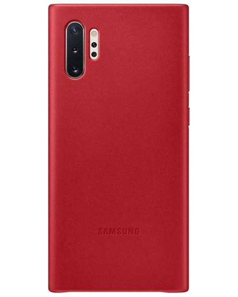 Samsung Kryt na mobil Samsung Leather Cover na Galaxy Note10+ červený