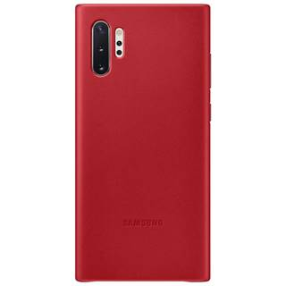 Kryt na mobil Samsung Leather Cover na Galaxy Note10+ červený