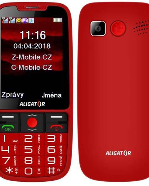 Aligator Mobilný telefón Aligator A890 Senior červený