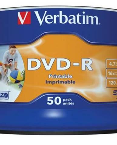 Disk Verbatim DVD-R 4.7GB, 16x, printable, 50cake