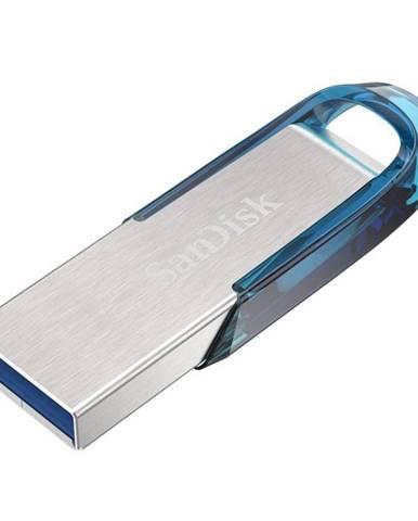 USB flash disk Sandisk Ultra Flair 128GB strieborný/modrý