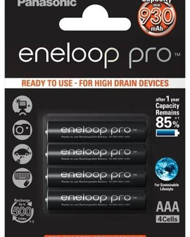 Batéria nabíjacie Panasonic Eneloop Pro AAA, HR03, 930mAh, Ni-MH,