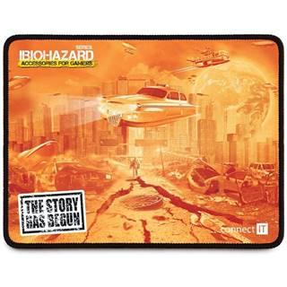 Podložka pod myš  Connect IT Biohazard malá 32 x 24,5 cm oranžová
