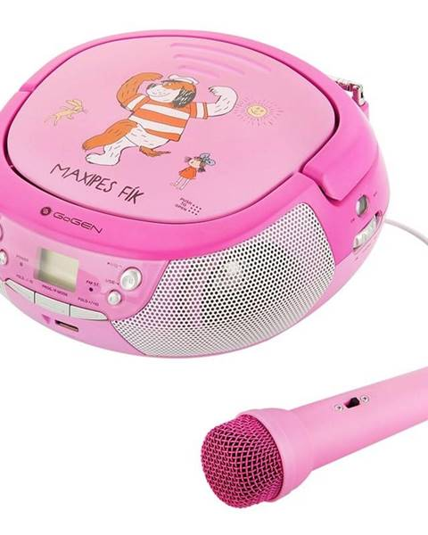 GoGEN Rádioprijímač s CD Gogen Maxipes Fík Maxiprehravac P ružový/fialov