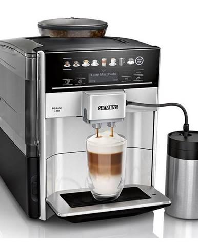 Espresso Siemens EQ.6 plus Te653m11rw strieborn