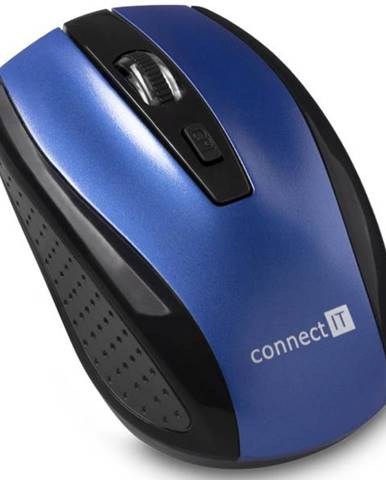 Myš  Connect IT CI-1225 modrá / optická / 4 tlačítka / 1600dpi