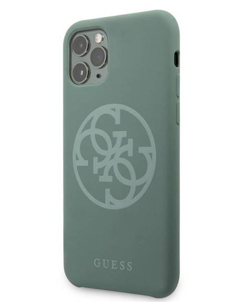 Guess Kryt na mobil Guess 4G Silicone Tone na iPhone 11 Pro Max zelený