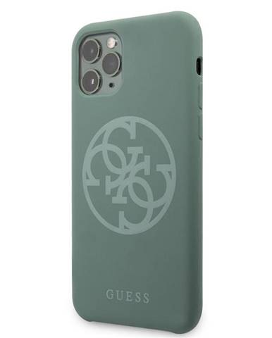 Kryt na mobil Guess 4G Silicone Tone na iPhone 11 Pro Max zelený