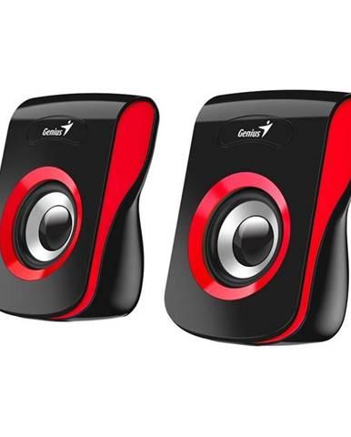 Reproduktory Genius SP-Q180 čierne/červené