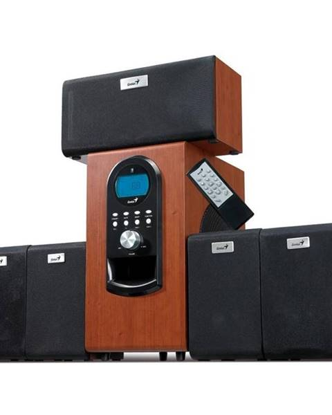 Genius Reproduktory Genius SW-HF 5.1 6000 Verze II. čierne/hnedé