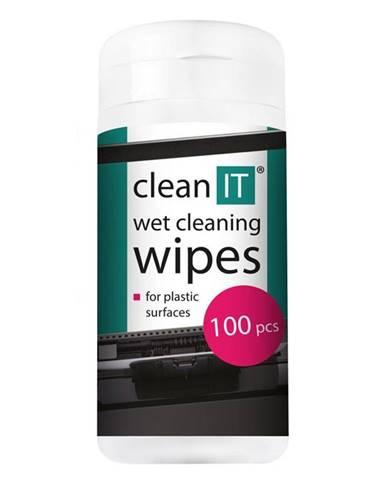 Čistiace obrúsky Clean IT mokré na plasty, 100ks