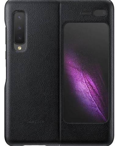 Kryt na mobil Samsung Leather Cover na Galaxy Fold čierny