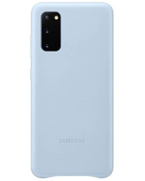 Samsung Kryt na mobil Samsung Leather Cover na Galaxy S20 modrý