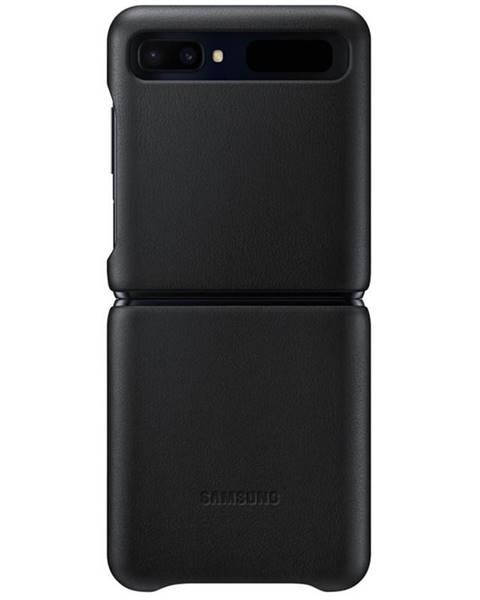 Samsung Kryt na mobil Samsung Leather Cover na Galaxy Z Flip čierny