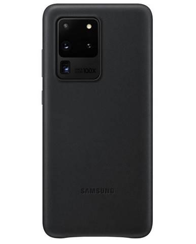 Kryt na mobil Samsung Leather Cover na Galaxy S20 Ultra čierny