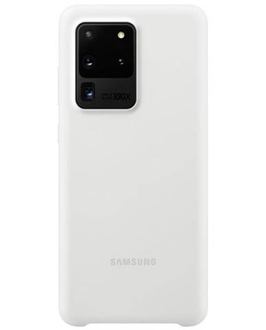 Kryt na mobil Samsung Silicon Cover na Galaxy S20 Ultra biely