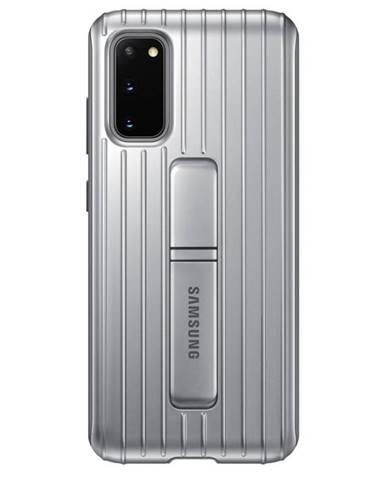 Kryt na mobil Samsung Standing Cover na Galaxy S20 strieborný