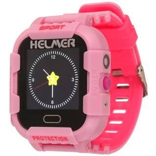 Inteligentné hodinky Helmer LK 708 dětské s GPS lokátorem ružový