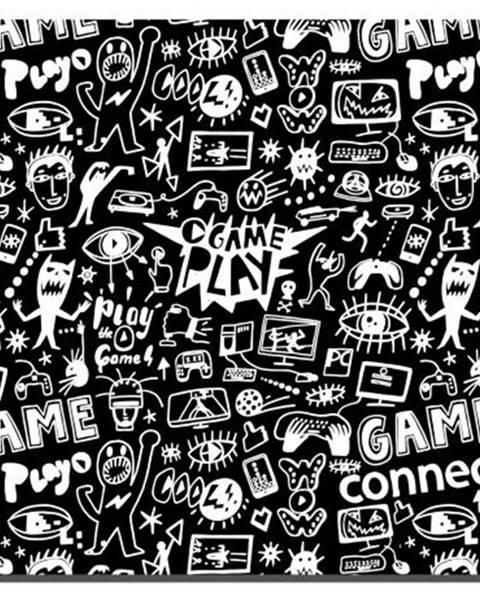 Connect IT Podložka pod myš  Connect IT Doodle malá, 32 x 26 cm čierna/biela