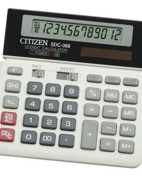 Citizen Kalkulačka Citizen SDC-368 čierna/biela