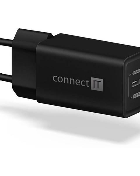 Connect IT Nabíjačka do siete Connect IT 1x USB-C PD, 18W čierna