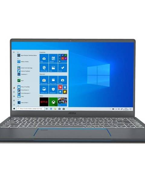 MSI Notebook MSI Prestige 14 A10SC sivý