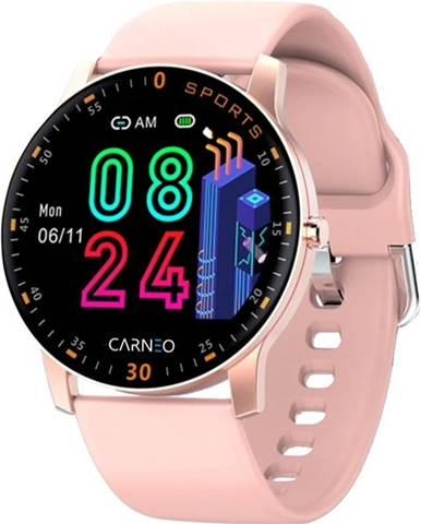 Inteligentné hodinky Carneo Gear+ platinum woman ružová