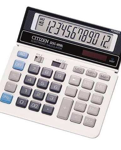 Kalkulačka Citizen SDC-868L čierna/biela