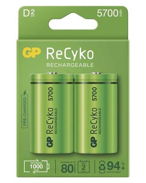 GP Batéria nabíjacie GP ReCyko, HR20, D, 5700mAh, NiMH, krabička 2ks