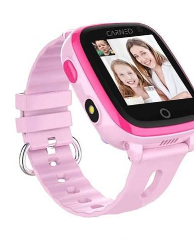 Inteligentné hodinky Carneo GuardKid+ 4G ružové