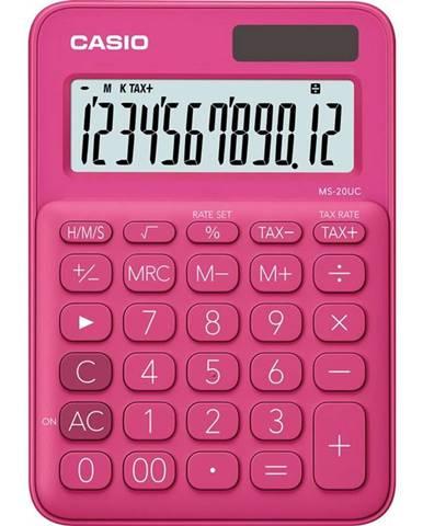 Kalkulačka Casio MS 20 UC RD ružov