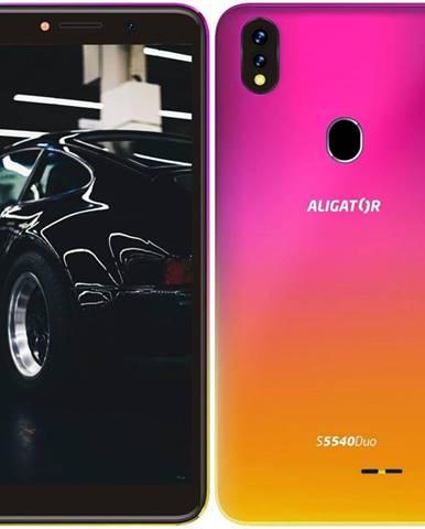 Mobilný telefón Aligator S5540 Dual SIM ružový/zlatý