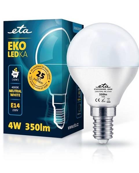 Eta LED žiarovka ETA EKO LEDka mini globe 4W, E14, neutrálna biela