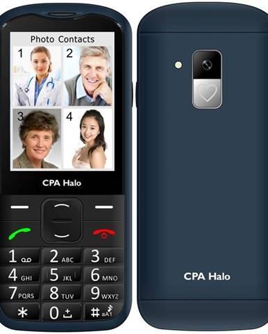 Mobilný telefón CPA Halo 18 Senior s nabíjecím stojánkem modrý