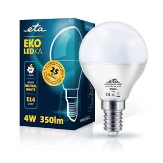 LED žiarovka ETA EKO LEDka mini globe 4W, E14, neutrálna biela