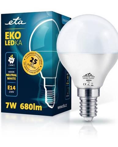LED žiarovka ETA EKO LEDka mini globe 7W, E14, neutrálna biela
