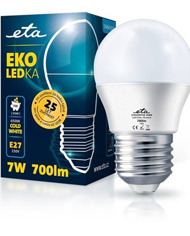 LED žiarovka ETA EKO LEDka mini globe 7W, E27, studená biela