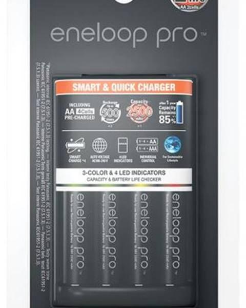 Panasonic Nabíjačka Panasonic Eneloop Smart-Quick Charger pro AA,AAA + 4x AA
