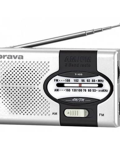 Rádioprijímač Orava T-103 čierny/strieborn