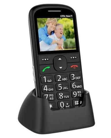 Mobilný telefón CPA Halo 11 Senior čierny