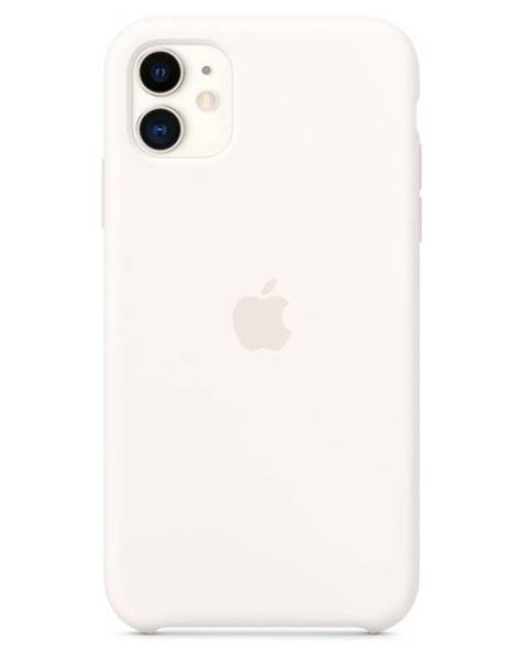 Apple Kryt na mobil Apple Silicone Case pre iPhone 11 biely