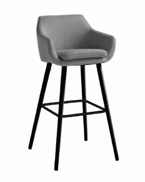 Kondela Barová stolička sivohnedá látka/čierna TAHIRA