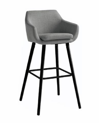 Barová stolička sivohnedá látka/čierna TAHIRA