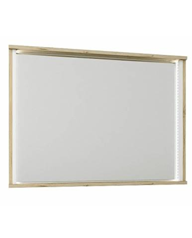 Zrkadlo dub wellington/biela LEIRA