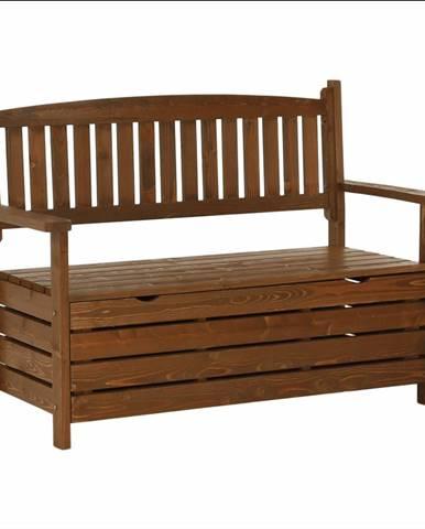 Záhradná lavička hnedá 124cm DILKA