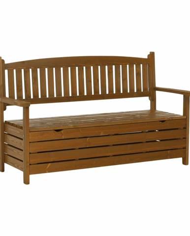 Záhradná lavička hnedá 150cm AMULA