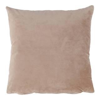 Vankúš zamatová látka béžová 45x45 ALITA TYP 9
