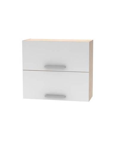 Horná výklopná skrinka 2DV dub sonoma/biela NOVA PLUS NOPL-015-OH