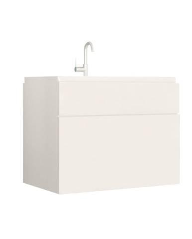 Skrinka pod umývadlo biela/biely extra vysoký lesk HG MASON WH13