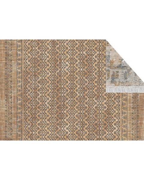Tempo Kondela Obojstranný koberec vzor/hnedá 160x230 MADALA